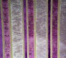 DESIGNERS GUILD Piomba Velvet stripe purple Belgium viscose poly new remnant