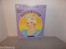 Vintage 1985 Golden Princess Diana Paper Doll Book NEW Unused Uncut