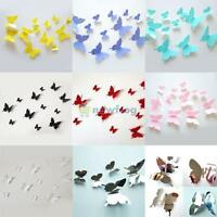 12pc 3D Butterfly Sticker Art Wall Stickers Decal Room Decoration Home Decor DIY