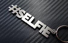 Hashtag SELFIE # Pose FOTO llavero a medida Acero Inoxidable Regalo
