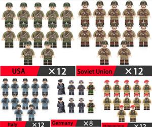 12 PCS MINIFIGURES lego MOC Germany Soldier Weapons Guns Accessories Action Figu