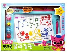 Pinkfong Color Board Stamp Art Toy Practice Writing Number Letter Baby & Kids