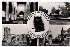 Postcard -  Good Luck from Basingstoke  ( Ref A19)