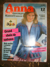Anna - Burda Ouvrages Manuels N°12 1982 Mode maille tricot Modèles Bricolage