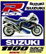 ADESIVI GSX-R - SUZUKI SACS ADVANCED COOLING SYSTEM anno 1991- KIT COMPLETO