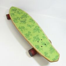 "Kryptonics Skateboard Green 31.5"" Longboard Floral Design Hawaiian Hibiscus"