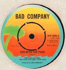 """Bad Company (7"""" Vinilo) corren con este pack-isla-Wip 6263-UK-1976-en muy buena condición/casi como nuevo"""