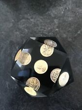 Vintage 1976 5 x Canadian Coins Lucite 14 Sided Paperweight 1 Cent