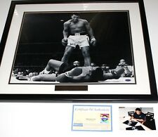 Certified Muhammad Ali Sonny Liston '65 Steiner Framed Photo 20x16 Signed w/COA
