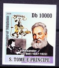 Sao Tome 2008 MNH Imperf, Graham Bell, Invented Telephone, Science