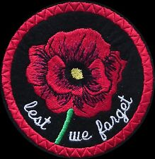 Poppy Embroidery Patch remembrance Lest we forget .(12)