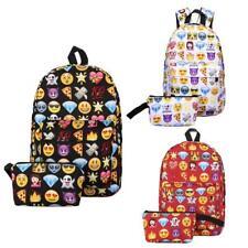 GIFT Pouch + Kids School Bag Fun Emoji Cartoon Backpack