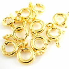 Vermeil 22K Gold Plated over Sterling Silver Spring Ring Clasp 6mm (10 Pieces)