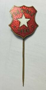 T.S. TS Wisla Krakow Football Club FC Enamel Old Pin Badge Polish Poland Soccer