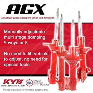 F + R KYB AGX Adjustable Shock Absorbers for SUBARU Impreza GD9 GDA GDE GDG