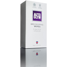 AUTOGLYM BIRD DROPPING WIPES WET WIPE CLEAN CAR BODY CARE CLEANING 10 SACHET BOX
