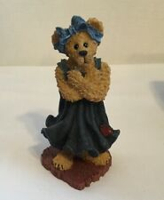 Boyds Bears Resin Ella Lovejoy, A Sign From The Heart Bearstone Collection