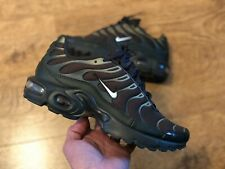 NIKE AIR MAX PLUS TN TRAINERS OLIVE GREEN KIDS WOMENS UK6 EUR39 6.5 Y NEW