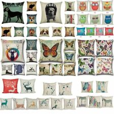 Linen Animal Sofa Waist Throw Pillow Case Car Cushion Cover Home Decor Office