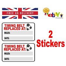 2 x Timing Belt Replacement Stickers - 60mm x 35mm - Cam Belt - Service - MOT