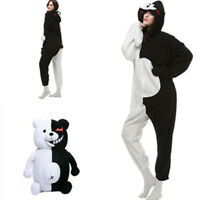 New Danganronpa Monokuma Cosplay Adult Unisex Kigurumi Jumpsuit Pajamas