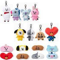 Kpop Plush Keychains Doll Keyring CHIMMY COOKY MANG KOYA TATA Soft Toys
