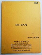SKIN GAME / Peter Stone 1971 Screenplay, JAMES GARNER & LOUIS GOSSETT JR.
