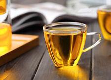 150ml 5fl.oz Heat Resisted Clear Glass Tea Cup Cute Handmade Coffee Mug