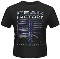 Official Fear Factory T Shirt Demanufacture Black Mens Classic Rock Metal Tee