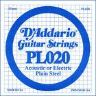 D'addario PL020 - Corde au détail 020 guitare électrique - Acier plein for sale