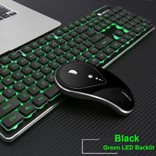 51f18f425e6 UK 2.4G Wireless Rechargeable LED Backlit Usb Ergonomic Gaming Keyboard +Mouse