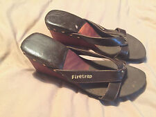 Womens Firetrap Wedged Sandals Clogs Wooden Size 5 Great Condition Lightly Worn