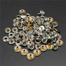 75pcs Stainless Steel Canvas Buckle Quick Snap Fastener Buttons Screws Kits