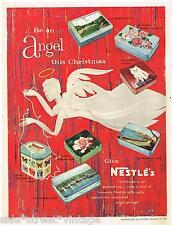 Original NESTLE'S CHOCOLATES AD GIFT TIN ART 1960 Vintage Australian Advertising