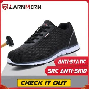 Mens Steel Toe Safety Shoes Work Shoes For Men lightweight Breathable Non-Slip