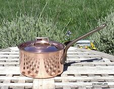 Havard Copper 1 Qt Saucepan w/ Lid, 2.5 mm, Made in France
