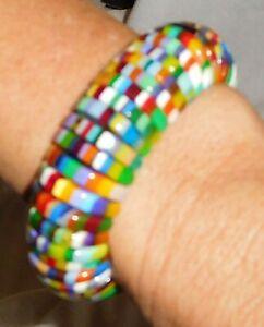 Sobral Magazine Visionaire Day Rainbow Stripe Half Moon Bracelet Brazil Import