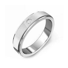 0.05 ct Natural Diamond Wedding Mens Bands Real 14K Gold Mens Rings Size R U