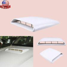 Universal Car Roof Air Flow Intake Hood Scoop Vent Bonnet Cover White Decor
