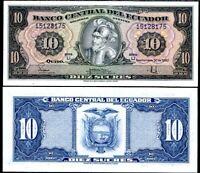 ECUADOR 10 SUCRES 1982 P 114 UNC