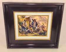 Vintage P Bonnet Painting on Copper Plate Gold Rush 1848 Limited Ed France