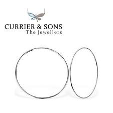 925 Sterling Silver Large 50mm Hoop Sleeper Earrings (Pair)