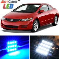 8 x Premium Blue LED Lights Interior Package Kit for Honda Civic 2006-2012 +Tool