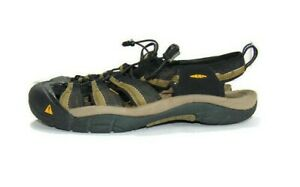 Keen Sandals Brown Black Polyester Webbing Upper Newport H2 Sport Men 12 1001906
