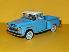 1958 CHEVY APACHE STEP SIDE BLUE PICKUP 1/64 LIMITED EDITION REAL RUBBER PW