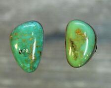 Turquoise cabochon Kingman  mine cab Earring set  Unique  ,B-147