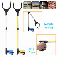 Foldable Garbage Pick Up Tool Grabber Reacher Stick Reaching Grab Claw Grip  🔥