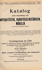 Lempertz 1912. Catalogo d'asta n. 138 ricca collezione di ANTIQUARIATO, Colonia