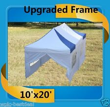 10'x20' Pop Up Canopy Party Tent EZ - Blue White - F Model Upgraded Frame
