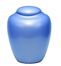 Biodegradable, Adult Oceane Aqua Sand and Gelatin Funeral Cremation Urn